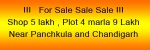 Shops and plot sale near panchkula and chandigarh