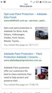 mobile search showing images in the snippets