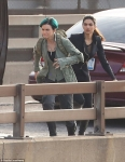 on set On Wednesday Ruby Rose and Deepika Padukone were spotted