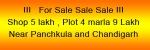 Shops and plot sale near panchkula and chandigarh